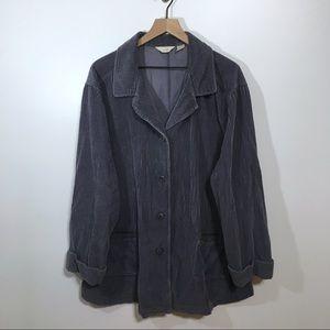 J. Jill Purple Blue Corduroy Jacket, 3X